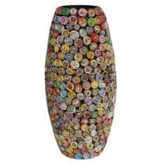 BIRIDA Dekorativní váza barevná velká úzká RC06L - 92 cm
