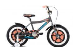 Adria Rocker 16 otroško kolo, sivo-oranžno