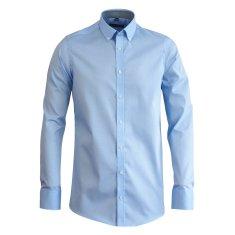 STEVULA Modrá pánska košeľa, Slim fit