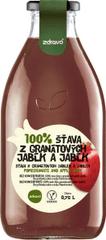Zdravo  šťava 100% z granátových jabĺk a jabĺk 0,750l (bal. 6ks)