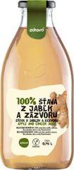Zdravo  šťava 100% jablkovo-zázvorová 0,750l (bal. 6ks)