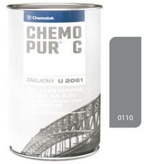 Chemolak Chemopur G U2061 0110 šedá 0.8L - základná polyuretánová dvojzložková farba