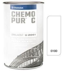 Chemolak Chemopur G U2061 0100 biela 8L - základná polyuretánová dvojzložková farba