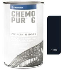 Chemolak Chemopur G U2061 0199 čierna 0.8l - základná polyuretánová dvojzložková farba