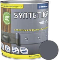 Chemolak Syntetika S2013U 1110 tmavošedá 0,6l - vrchná farba lesklá