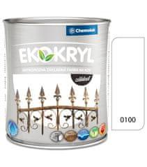 Chemolak Ekokryl základ 0100 biely 0,6l - základná vodouriediteľná farba na kov