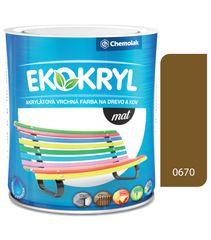 Chemolak Ekokryl Mat V2045 0670 okrová 0,6l - vrchná akrylátová farba na drevo a kov