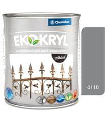 Chemolak Ekokryl základ 0110 šedý 0,6l - základná vodouriediteľná farba na kov