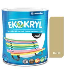 Chemolak Ekokryl Mat V2045 0208 béžová 0,6l - vrchná akrylátová farba na drevo a kov