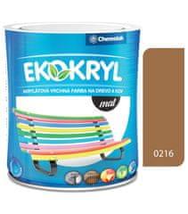 Chemolak Ekokryl Mat V2045 0216 orech shea 0,6l - vrchná akrylátová farba na drevo a kov