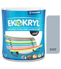 Chemolak Ekokryl Mat V2045 0107 svetlá šedá 0,6l - vrchná akrylátová farba na drevo a kov