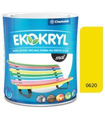 Chemolak Ekokryl Mat V2045 0620 žltá 0,6l - vrchná akrylátová farba na drevo a kov