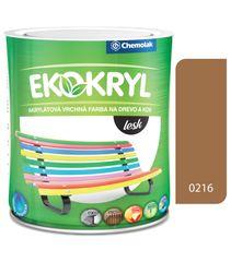 Chemolak Ekokryl Lesk V2062 0216 orech shea 0,6l - vrchná akrylátová farba na drevo a kov