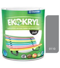 Chemolak Ekokryl Lesk V2062 0110 šedá tmavá 0,6l - vrchná akrylátová farba na drevo a kov