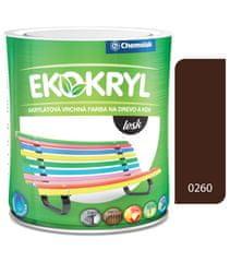 Chemolak Ekokryl Lesk V2062 0260 palisander 0,6l - vrchná akrylátová farba na drevo a kov