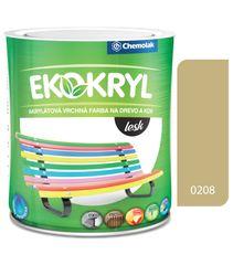 Chemolak Ekokryl Lesk V2062 0208 béžová 0,6l - vrchná akrylátová farba na drevo a kov