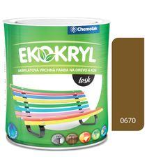 Chemolak Ekokryl Lesk V2062 0670 oker 0,6l - vrchná akrylátová farba na drevo a kov