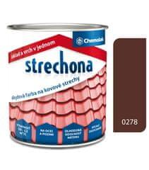 Chemolak Strechona - farba na strechy 0278 hnedá 2L