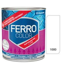 Chemolak Ferro Color U2066 1000 biela 0,3l pololesk - základná a vrchná farba na kov