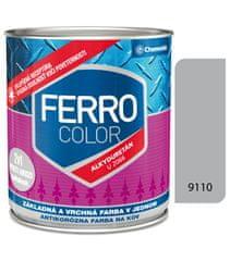 Chemolak Ferro Color U2066 9110 hliníková 0,75l pololesk - základná a vrchná farba na kov