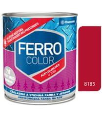 Chemolak Ferro Color U2066 8185 červená 0,3l pololesk - základná a vrchná farba na kov