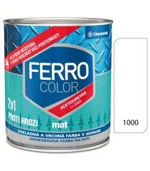 Chemolak Ferro Color U2066 Mat 1000 biela 0,75l - základná a vrchná farba na kov