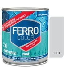 Chemolak Ferro Color U2066 Mat 1003 sivá 0,75l - základná a vrchná farba na kov