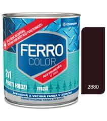 Chemolak Ferro Color U2066 Mat 2880 tmavohnedá 0,75l - základná a vrchná farba na kov