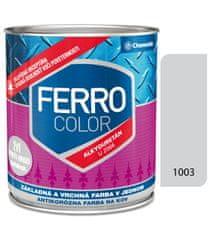 Chemolak Ferro Color U2066 1003 sivá 0,3l pololesk - základná a vrchná farba na kov