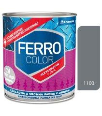 Chemolak Ferro Color U2066 1100 šedá 0,75l pololesk - základná a vrchná farba na kov