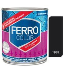 Chemolak Ferro Color U2066 1999 čierna 0,3l pololesk - základná a vrchná farba na kov