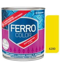 Chemolak Ferro Color U2066 6200 žltá 0,3l pololesk - základná a vrchná farba na kov