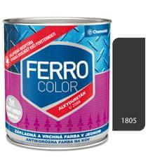Chemolak Ferro Color U2066 1805 antracit 0,75l pololesk - základná a vrchná farba na kov