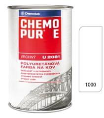 Chemolak Chemopur E U2081 1000 biela 0,8L - vrchná polyuretánová farba na kov, betón, drevo