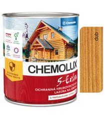 Chemolak S1025 Chemolux S Extra 0632 dub 2,5l - hodvábne lesklá ochranná lazúra na drevo