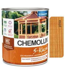 Chemolak S1040 Chemolux S-Klasik 0601 pínia 2,5l - matná ochranná lazúra na drevo