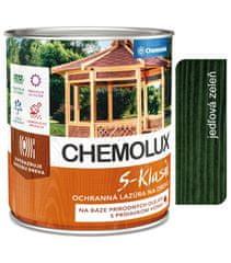 Chemolak S1040 Chemolux S-Klasik 0531 jedľová zeleň 2,5l - matná ochranná lazúra na drevo