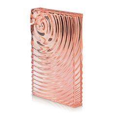 Guzzini plochá lahev FLAT PACK WATER BOTTLE RIPPLES korálově růžová