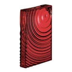 Guzzini plochá lahev FLAT PACK WATER BOTTLE RIPPLES červená