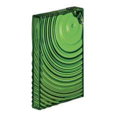 Guzzini plochá lahev FLAT PACK WATER BOTTLE RIPPLES zelená