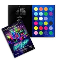 Rude Cosmetics Paleta senčil City of Neon Light s 36 g
