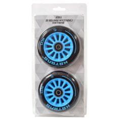 Náhradné kolieska do freestyle kolobežky - 100 mm, PU, modré, 2 ks D-226