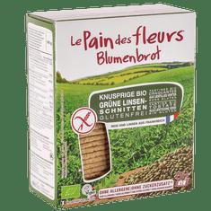 Le Pain des Fleurs Chrumkavý chlebíček so zelenou šošošovicou (150 g)