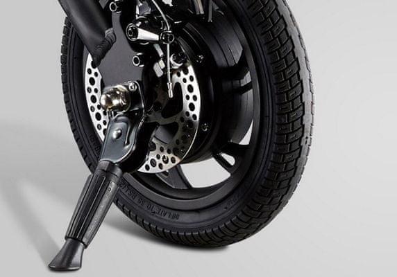 Elektryczny, składany rower Ecolo Eljet E5 do jazdy terenowej i miejskiej mocny silnik nadmuchiwane opony duże koła kompaktowe wymiary solidna konstrukcja