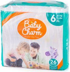 Baby Charm Super Dry Flex 6 Extra Large, 16+ kg, 26 ks