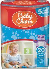 Baby Charm Super Dry Flex Pants 5 Junior, 12-18 kg, 20 ks