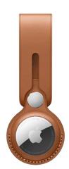Apple AirTag Leather Loop obesek za ključe, Saddle Brown (MX4A2ZM/A)
