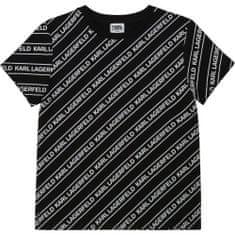 KARL LAGERFELD kids Chlapčenské tričko s logom čierne KARL LAGERFELD-Karl Lagerfeld Kids