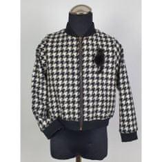 DAGA kidswear Dievčenská bunda pepitovy vzor čierna DAGA -Daga collection