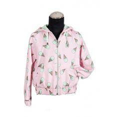 DAGA kidswear Dievčenská mikina so zmrzlinami ružová DAGA-Daga collection
